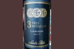 Отзыв о вине 3 Tres Medallas Carmenere 2017