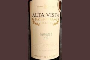 Отзыв о вине Alta Vista Premium estate Torrontes 2013
