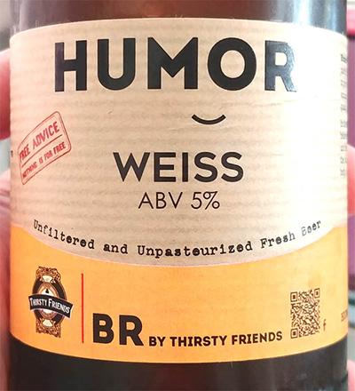 Отзыв о пиве BR by thirsty friends Humor Weiss