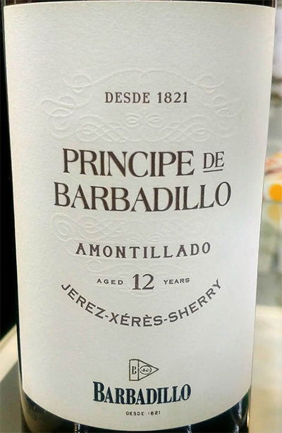 Отзыв о вине Barbadillo Principe de Barbadillo Amontillado Jerez 12