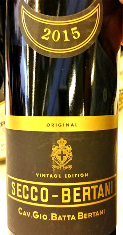Отзыв о вине Batta Bertani Secco-Bertani vintage edition 2015