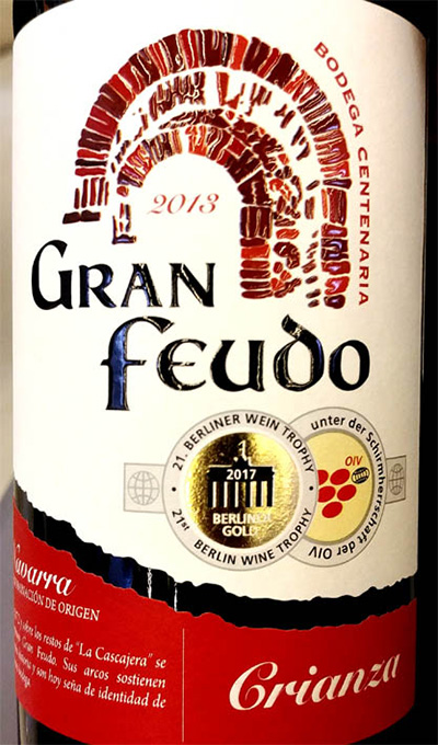 Отзыв о вине Bodegas Centenaria Gran Feudo Crianza Navarra 2013