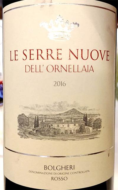 Отзыв о вине Bolgheri Le Serre Nuove dell'Ornellaia rosso Toscana 2016