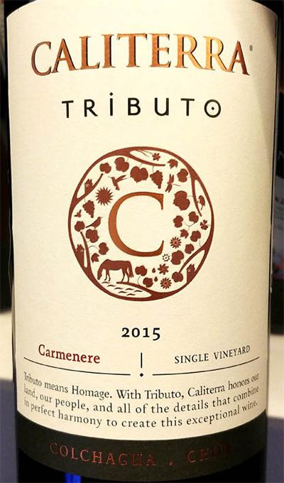 Отзыв о вине Caliterra Tributo Carmenere single wineyard 2015