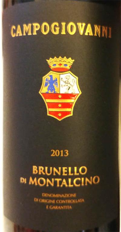 Отзыв о вине Campogiovanni Brunello di Montalcino 2013