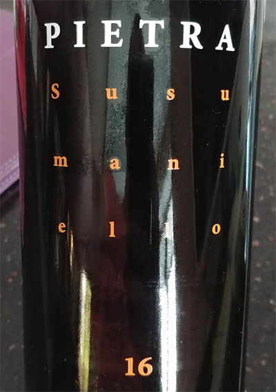 Отзыв о вине Cantina Menhir Pietra Susumaniello Salento 2016