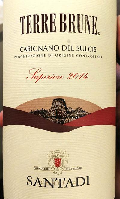 Отзыв о вине Cantina Santadi Terre Brune Carignano del Sulcis Superiore 2014