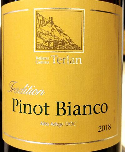 Отзыв о вине Cantina Terlano Tradition Pinot Bianco 2018