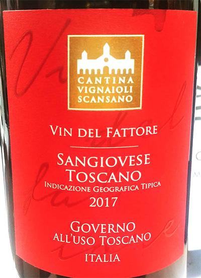 Отзыв о вине Cantina Vignaioli Scansano Sangiovese Governo all'uso Toscana 2017