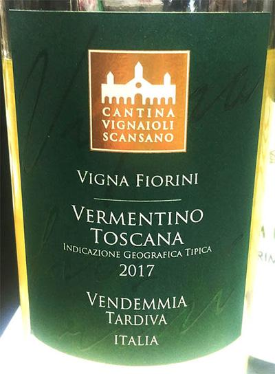 Отзыв о вине Cantina Vignaioli Scansano Vermentino Toscana 2017