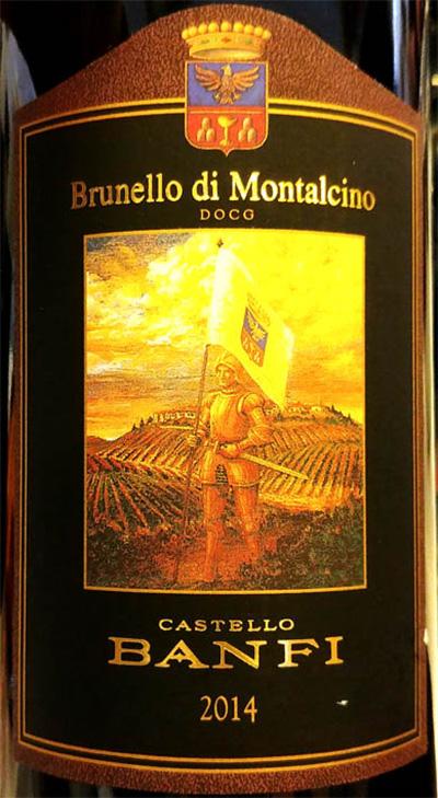 Отзыв о вине Castello Banfi Brunello di Montalcino 2014