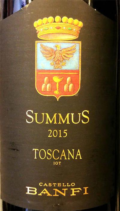 Отзыв о вине Castello Banfi Summus Toscana 2015