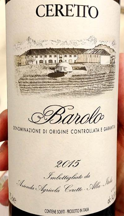 Отзыв о вине Ceretto Barolo 2015