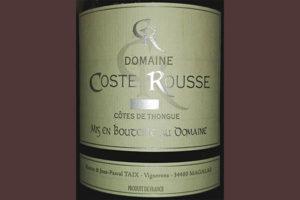 Отзыв о вине Domaine Coste Rousse Cotes de Thongue 2015