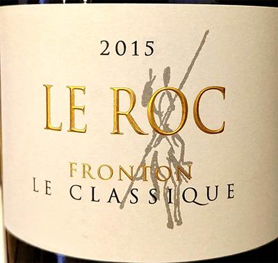 Отзыв о вине Domaine Le Roc Fronton Le Classique 2015
