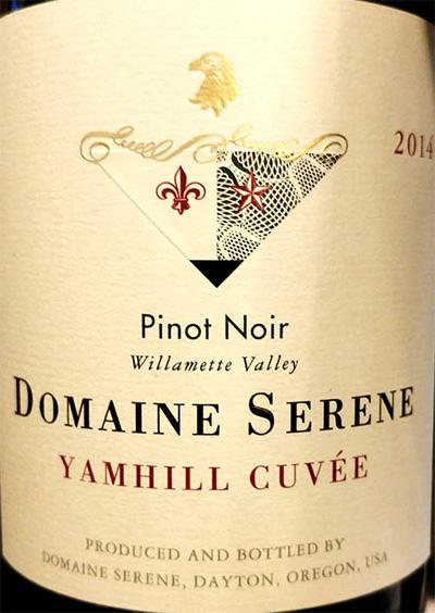 Отзыв о вине Domaine Serene Yamhill Cuvee Pinot Noir 2014