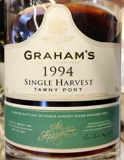 Отзыв о вине Graham's Single Harvest Tawny Port 1994