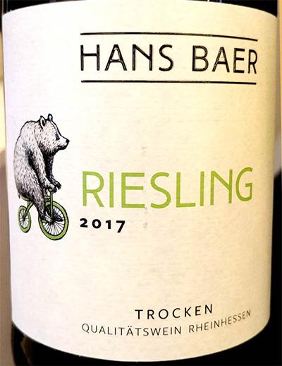 Отзыв о вине Hans Baer Riesling trocken Rheinhessen 2017