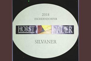 Отзыв о вине Horst Sauer Escherndorfer Silvaner 2018