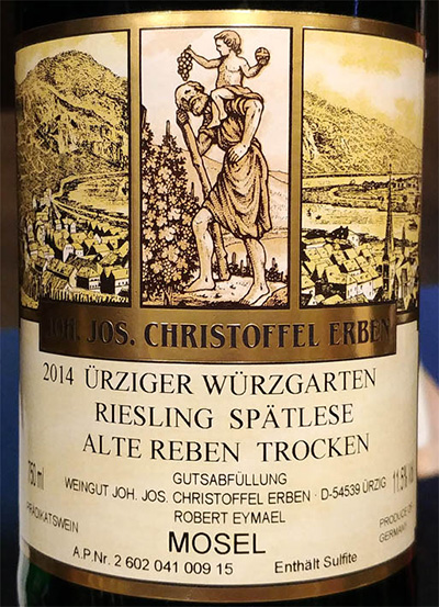 Отзыв о вине Joh. Jos. Christoffel Erben Urziger Wurzgarten Riesling Spatlese Alte Reben Trocken 2014