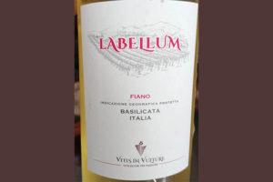 Отзыв о вине Labellum Fiano Basilicata 2017