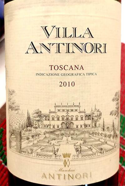 Отзыв о вине Marchesi Antinori Villa Antinori Toscana 2010