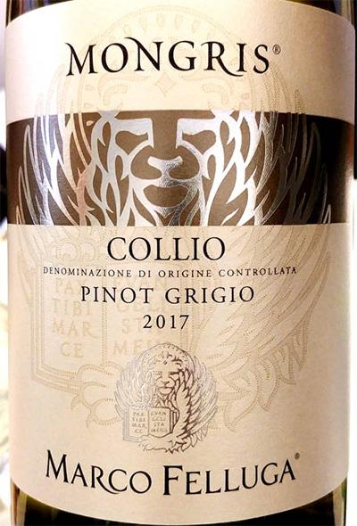Отзыв о вине Marco Felluga Mongris Pinot Grigio Collio 2017
