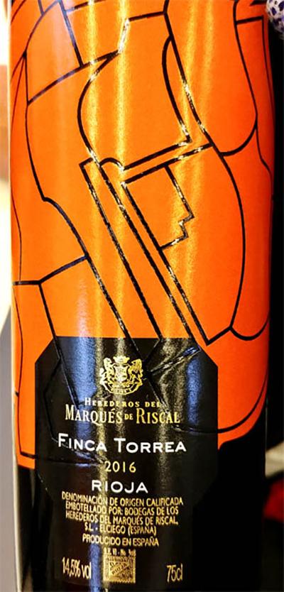 Отзыв о вине Marques de Riscal Finca Torrea Rioja 2016