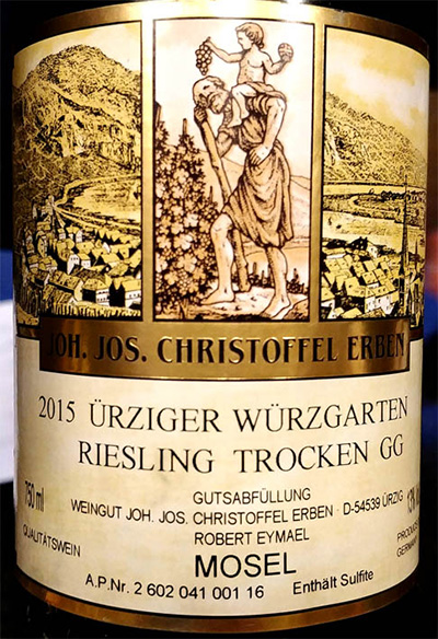 Отзыв о вине Monchhof Joh. Jos. Christoffel Erben Urziger Wurzgarten Riesling Trocken GG 2015