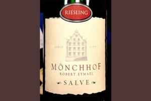 Отзыв о вине Monchhof Robert Eymael Salve Riesling 2015