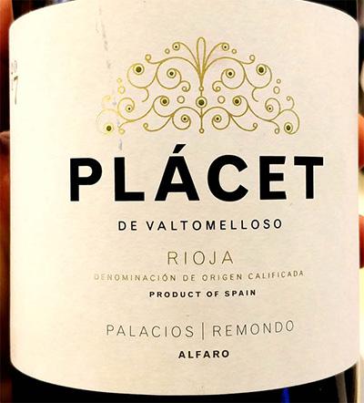 Отзыв о вине Palacios Remondo Placet de Valtomelloso Rioja 2017
