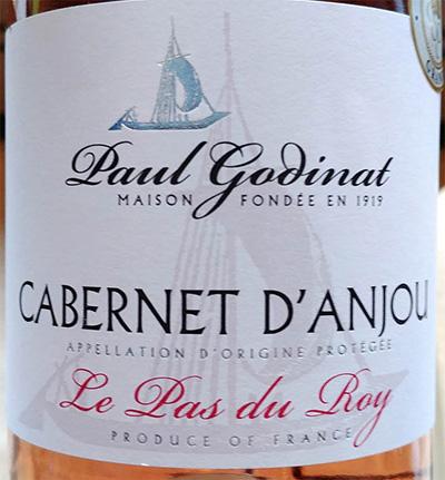 Отзыв о вине Paul Godinat Le Pas du Roy Cabernet d'Anjou 2018