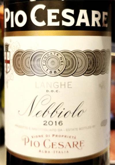 Отзыв о вине Pio Cesare Nebbiolo Langhe 2016