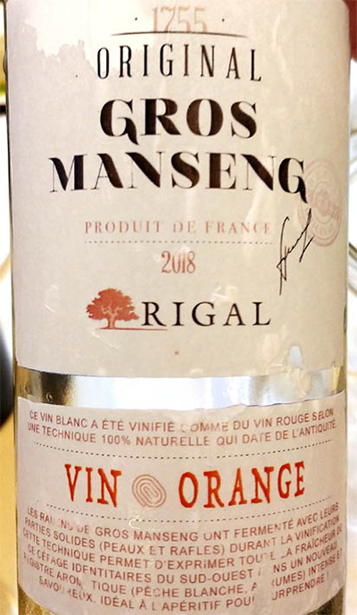 Отзыв о вине Rigal 1755 Original Gros Manseng Vin Orange 2018