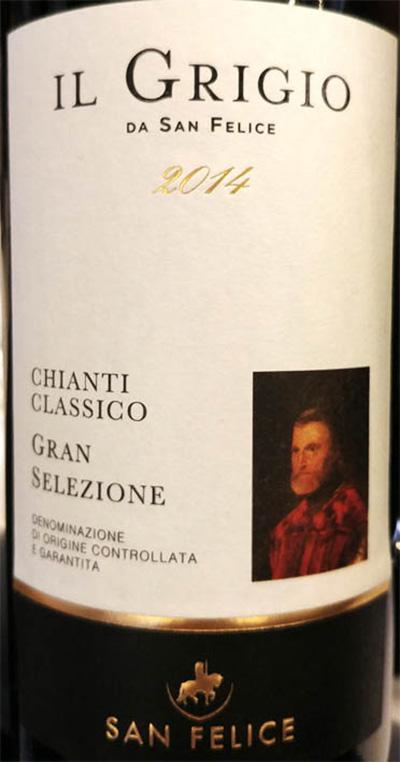Отзыв о вине San Felice Il Grigio da San Felice Chianti Classico Gran Selezione 2014