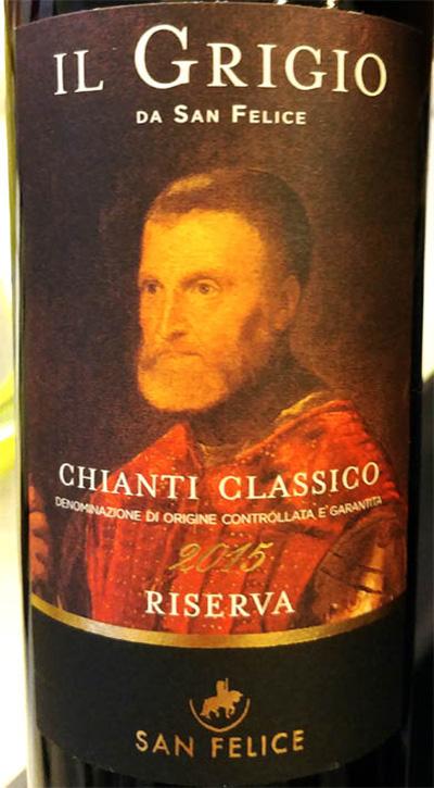 Отзыв о вине San Felice Il Grigio da San Felice Chianti Classico Reserva 2015