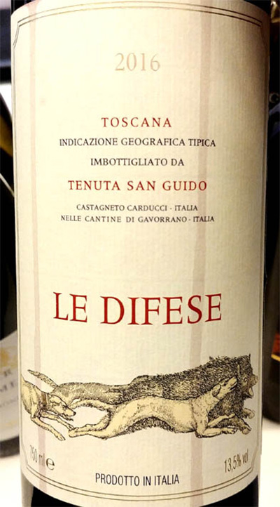 Отзыв о вине Tenuta San Guido Le Difese Toscana 2016