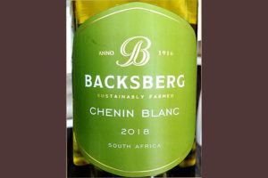 Отзыв о вине Backsberg Chenin Blanc South Africa 2018