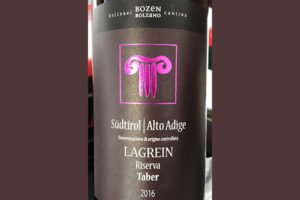 Отзыв о вине Cantina Bolzano Bozen Lagrein Riserva Taber Alto Adige Sudtirol 2016