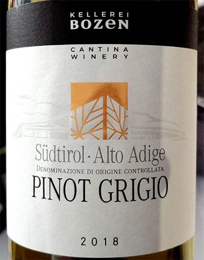 Отзыв о вине Cantina Bozen Pinot Grigio Alto Adige Sudtirol 2018