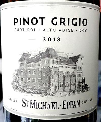 Отзыв о вине Cantina St. Michael - Eppan Pinot Grigio Alto Adige Sudtirol 2018