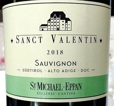 Отзыв о вине Cantina St. Michael - Eppan Sauvignon Alto Adige Sudtirol 2018