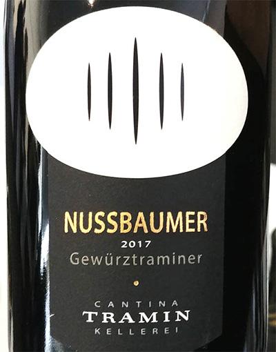 Отзыв о вине Cantina Tramin Nussbaumer Gewurztraminer Alto Adige Sudtirol 2017