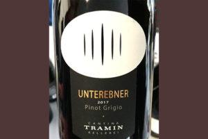 Отзыв о вине Cantina Tramin Unterebner Pinot Grigio Alto Adige Sudtirol 2017