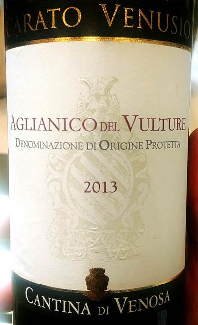 Отзыв о вине Cantina di Venosa Carato Venusio Aglianico del Vulture 2013