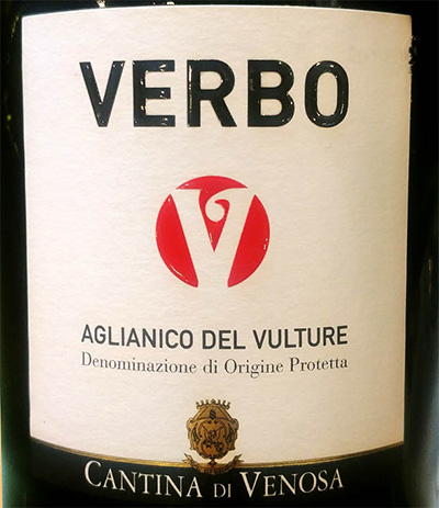 Отзыв о вине Cantina di Venosa Verbo Aglianico del Vulture 2015