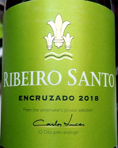 Отзыв о вине Carlos Lucas Ribeiro Santo Encruzado Dao branco 2018