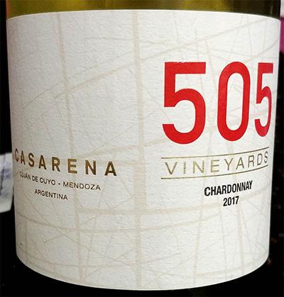 Отзыв о вине Casarena 505 Chardonnay Mendoza Argentina 2017