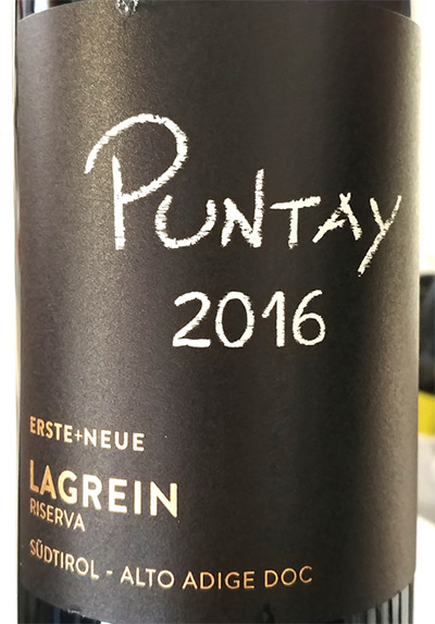 Отзыв о вине Erste + Neue Puntay Lagrein Riserva Alto Adige Sudtirol 2016