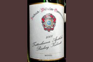 Отзыв о вине Friedrich-Wilheim-Gymnasium Frittenheimer Apotheke Riesling Kabinett Mosel 2008